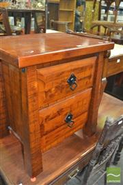 Sale 8331 - Lot 1325 - Two Drawer Bedside Cabinet