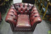 Sale 8418 - Lot 1033 - Gascoigne Leather Button Back Armchair