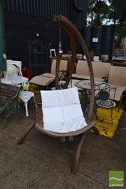 Sale 8499 - Lot 1307 - Timber Hanging Swing Chair