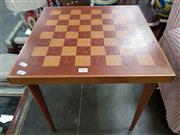 Sale 8740 - Lot 1605 - Occasional Table with Chess Board Top