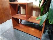 Sale 8769 - Lot 1086 - Small Timber Stepside Open Bookshelf