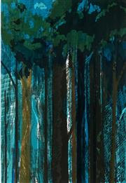 Sale 8980A - Lot 5080 - Una Foster (1912 - 1996) - Rainforest, 1975 40.5 x 28 cm (mount: 56.5 x 43 cm)