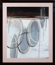Sale 9020H - Lot 43 - An Abstract framed print frame size 102x87cm