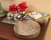 Sale 9071H - Lot 39 - A group of Shiel Abbey coasters, circular and rectangular together with sundry others and posy bowls