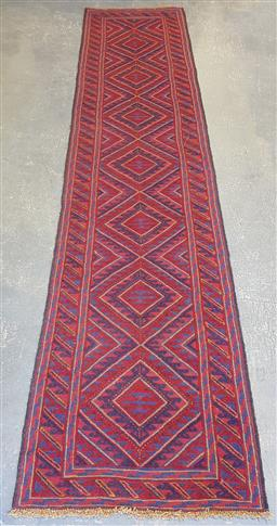 Sale 9102 - Lot 1161 - Pure wool hand knotted Persian Baluchi runner (370 x 85cm)