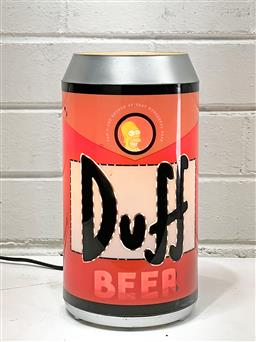 Sale 9108 - Lot 1092 - Simpsons Duff Beer Can Table Lamp with oscillating characters (25cm) -