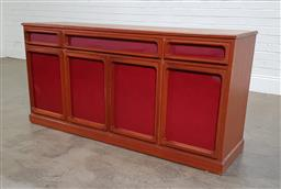 Sale 9188 - Lot 1223 - Chiswell four door sideboard with three drawers (h:77 x w:157 x d:44cm)