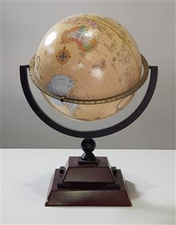 Sale 9240 - Lot 1035 - World globe on timber stand (h50 x d45cm)