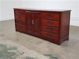 Sale 9255 - Lot 1265A - Chinese rosewood sideboard (h81 x w183 x d48cm)