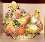 Sale 8080A - Lot 92 - Capodimonte brightly coloured Fruit and Floral group