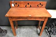 Sale 8161 - Lot 1005 - Carved Back Timber Hall Table