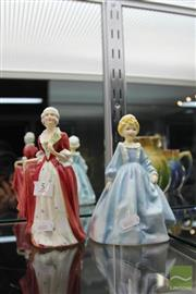 Sale 8217 - Lot 5 - Royal Worcester Figure Grandmothers Dress & a Lawton Figure Marie