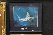 Sale 8332 - Lot 2004 - Artist Unknown, Nude Angle, Acrylic 26x31cm