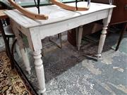Sale 8740 - Lot 1619 - White Painted Timber Hall Table