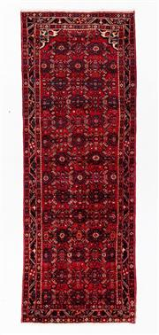 Sale 8800C - Lot 102 - A Persian Hussainabad Hand Knotted Wool Hall Way Runner, 115 x 310cm