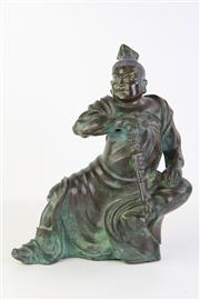 Sale 8815C - Lot 70 - Bronze Chinese Warrior Figure (H 32cm)