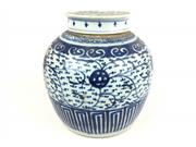 Sale 8995H - Lot 27 - An antique Chinese blue and white ginger jar, height 21cm