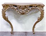 Sale 8972H - Lot 33 - A French carved timber console table Height 87cm x Width 1m xDepth 43cm