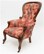 Sale 8980J - Lot 60 - Another Australian Colonial cedar armchair C: 1865, to match the previous one, but of slightly smaller proportions. The hoop and wai...