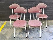 Sale 9017 - Lot 1071 - Set of Four Goodline Industries Dining Chairs with Vinyl Seats (H:85 W:39cm)