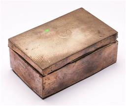 Sale 9122 - Lot 209 - Hallmarked Sterling Silver Jewellery Box with Timber Lining, Birmingham Presented by Ann Bank S.W.I.R 11th May 1923