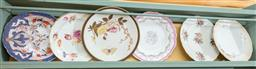 Sale 9120H - Lot 219 - A collection of six floral themed cabinet plates including Burslem and others  some losses