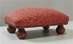 Sale 9240 - Lot 1026 - Fabric upholstered footstool (h15 x w44 x d33cm)