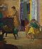 Sale 3770 - Lot 15 - ROLAND WAKELIN (1887 - 1971) - Interior with Two Figures