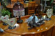 Sale 8156 - Lot 1045 - Set of 4 Heart Shaped Table Lamps & 3 Others (7)