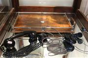 Sale 8327 - Lot 79 - Tasmanian Serving Tray Together With An Early Telephone Head and Hand Set