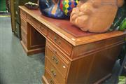 Sale 8331 - Lot 1310 - Leather Insert Top Partners Desk