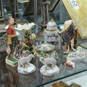 Sale 8351 - Lot 51 - Staffordshire Sheep Figures with Other Early English Ceramics (AF)