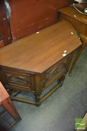 Sale 8380 - Lot 1065 - Oak Cabinet with Carved Panel Door over Stretcher Base