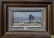 Sale 8600 - Lot 2002 - Werner Filipich - Kurrajong Pastures oil on canvas on board, 11.5 x 22cm, signed lower right