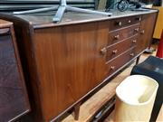 Sale 8705 - Lot 1085 - Younger Afromosia Teak Sideboard