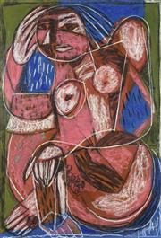 Sale 8722 - Lot 516 - Pasquale Giardino (1961 - ) - Untitled, 2001 (Woman in style of Picasso) 100 x 70cm