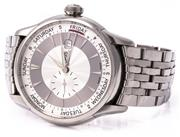 Sale 8937 - Lot 454 - AN ORIS ARTELIER SMALL SECOND POINTER DAY AUTOMATIC WRISTWATCH; ref 7596 in stainless steel with 2 tone guilloche dial, date, second...