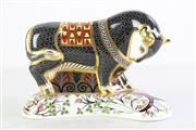 Sale 8952 - Lot 54 - Royal Crown Derby figure of a Cretan Bull (L19cm) limited ed no.627/750