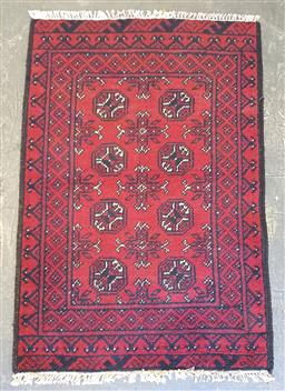 Sale 9102 - Lot 1034 - Pure wool hand knotted Afghan Turkoman (130 x 80cm)