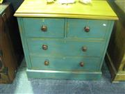 Sale 7974A - Lot 1007 - Edwardian Blue Painted Pine Chest of Four Drawers