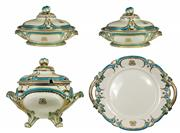 Sale 8057 - Lot 77 - Minton Aqua Blue & White Table Suite