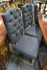 Sale 8066 - Lot 1032 - Set Of Six Louis Fabric Dining Chairs