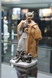 Sale 8116 - Lot 3 - Herend Figure of a Gent & His Hound