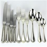 Sale 8239 - Lot 32 - Christofle Albi Cutlery Setting for Six Persons
