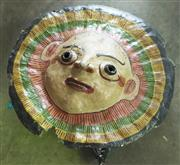Sale 8319 - Lot 313 - 1950s Large Papier Mache carnival mask or wall hanging