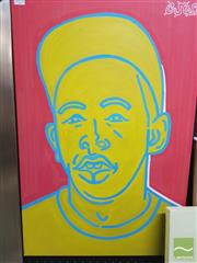 Sale 8441A - Lot 5014 - Jack Vigor (Street Artist, CASPER) - Tyler the Creator 76 x 50.5cm (stretched & ready to hang)