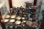 Sale 8379 - Lot 159 - Silver Plated Champagne Buckets with Other Drink Wares incl. Goblets