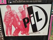 Sale 8421 - Lot 1028 - Vintage and Original Public Image Limited A Product of your Society Promotional Poster (71cm x 101cm)