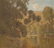 Sale 8665A - Lot 5098 - William Lister Lister (1859 - 1943) - River Scene 53.5 x 57.5cm