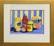 Sale 8978 - Lot 2010A - Sunday Breakfast Table watercolour, 49 x 57cm (frame), signed lower right